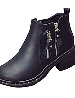 Women's Shoes PU Fall Winter Combat Boots Boots Round Toe For Casual Black