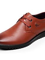 Masculino sapatos Pele Primavera Outono Conforto Oxfords Para Casual Preto Amarelo