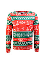 cheap -Men's Daily Wear Going out Sweatshirt 3D Print Round Neck Micro-elastic Polyester Long Sleeves Winter Autumn/Fall