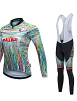 cheap -Cycling Jersey with Bib Tights Unisex Long Sleeves Bike Bib Tights Jersey Reflective Strip Fast Dry Quick Dry Anatomic Design