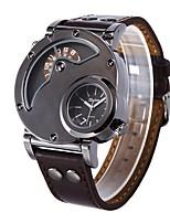 Недорогие -Муж. Повседневные часы Модные часы Нарядные часы Китайский Кварцевый Крупный циферблат Кожа Группа Cool Коричневый