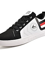 cheap -Men's Shoes PU Spring Fall Comfort Sneakers For Outdoor Red Black White