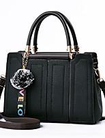 economico -Donna Sacchetti PU (Poliuretano) Tote Set di borsa da 4 pezzi Con balze Cerniera per Shopping Casual Tutte le stagioni Rosa Blu scuro