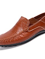 Men's Shoes PU Spring Fall Light Soles Loafers & Slip-Ons for Casual Gold Black Brown