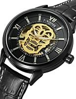 WINNER Men's Fashion Watch Dress Watch Wrist watch Automatic self-winding Water Resistant / Water Proof Hollow Engraving Skull Genuine