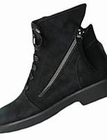 cheap -Women's Shoes Rubber Winter Combat Boots Boots Chunky Heel Round Toe For Outdoor Black