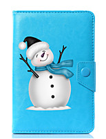 cheap -Universal Cartoon Snowman PU Leather Stand Cover Case For 7 Inch 8 Inch 9 Inch 10 Inch Tablet PC