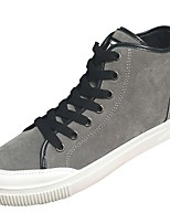 cheap -Men's Shoes Nubuck leather Winter Comfort Sneakers For Casual Khaki Gray Black