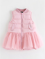 cheap -Girl's Solid Dress,Cotton Sleeveless Cute Blushing Pink