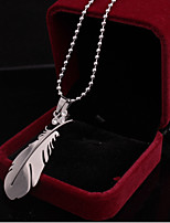Men's Women's Pendant Necklaces Leaf Stainless Steel Alloy Natural Metallic Jewelry For Gift Daily