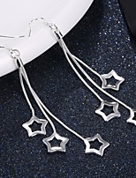 Women's Drop Earrings Fashion Elegant Silver Plated Star Jewelry For Wedding Party