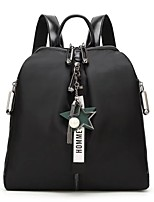 Women Bags Oxford Cloth Backpack Flower(s) for Casual Office & Career Winter Black