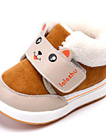 Baby Shoes Fabric Fall Winter Fluff Lining Snow Boots Boots For Casual Burgundy Peach Coffee Dark Blue