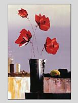 Ручная роспись Цветочные мотивы/ботанический Прочее 1 панель Холст Hang-роспись маслом For Украшение дома