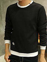 cheap -Men's Daily Casual Sweatshirt Solid Cotton