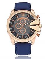 Women's Casual Watch Fashion Watch Wrist watch Chinese Quartz Large Dial PU Band Casual Black White Blue Brown Khaki