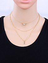Women's Choker Necklaces Alloy Simple Elegant Jewelry For Casual