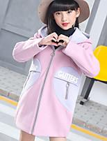 Girls' Solid Jacket & Coat Brown Green Blushing Pink