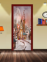 cheap -Christmas Wall Stickers Plane Wall Stickers Decorative Wall Stickers,Vinyl Material Home Decoration Wall Decal