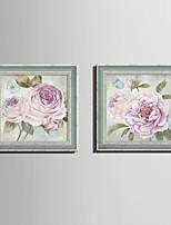 Botanique A fleurs/Botanique Retro Toile Encadrée Set de Cadres Art mural,PVC Matériel Avec Cadre For Décoration d'intérieur Cadre Art