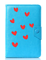 abordables -caja universal de la cubierta del soporte del cuero de la PU del corazón para 7 pulgadas 8 pulgadas 9 pulgadas 10 pulgadas tablet pc