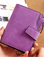 cheap -Women Bags PU Wallet Buttons for Casual All Season Blushing Pink Gray Purple Fuchsia Coffee