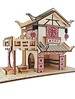 economico -Puzzle 3D Puzzle Giocattoli di logica e puzzle Kit per costruzioni Modello in legno Giocattoli Casa 3D Cucce Fashion Bambini vendita calda