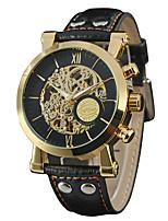 WINNER Муж. Нарядные часы Наручные часы Механические часы С автоподзаводом С гравировкой Кожа Группа Винтаж На каждый день Черный