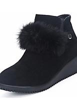 abordables -Mujer Zapatos Cuero Nobuck Otoño Invierno Botas de Moda Forro de piel Botas Dedo redondo Botines/Hasta el Tobillo Para Casual Vestido