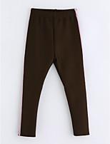 cheap -Girls' Striped Pants,Cotton Winter Brown