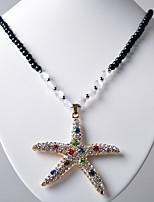 Mujer Collares con colgantes Cristal Forma Geométrica Legierung Europeo Moda Joyas Para Diario