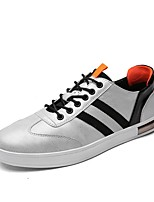cheap -Men's Shoes Synthetic Microfiber PU PU Leatherette All Season Comfort Sneakers For Casual Gray Black White