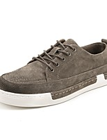 cheap -Men's Shoes Real Leather Nappa Leather Spring Fall Comfort Sneakers For Casual Khaki Black