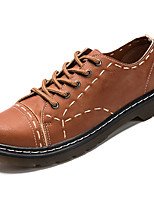Men's Shoes Nappa Leather Spring Fall Comfort Oxfords for Outdoor Black Brown