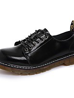 Men's Shoes Real Leather Spring Fall Comfort Oxfords For Outdoor Black