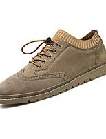 Masculino sapatos Couro Couro de Porco Couro Ecológico Outono Inverno Conforto Oxfords Cadarço Para Casual Preto Khaki