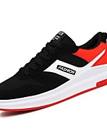 cheap -Men's Shoes Rubber Spring Fall Comfort Sneakers Walking Shoes Booties/Ankle Boots Hollow-out For Outdoor Black/Red Black/White Black