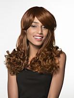 Недорогие -жен. Человеческие волосы без парики Черный Мед блондинку Medium Auburn Длиный Кудрявый Боковая часть