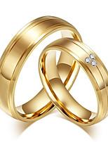 Métal élégant en acier de titane acier cercle des femmes des hommes pour l'engagement de mariage