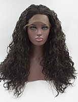 cheap -Women Synthetic Wig Lace Front Medium Length Long Medium Brown Natural Wigs Costume Wig