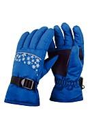 Недорогие -Лыжные перчатки Детские Полный палец Сохраняет тепло Покрытие Катание на лыжах Пешеходный туризм На открытом воздухе Зима