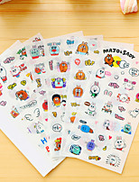 cheap -6 Pcs/Set Cartoon Rabbit Diary Sticker Phone Sticker Scrapbook Stickers