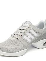 """economico -Da donna Sneakers da danza moderna A maglia Sneaker All'aperto Basso Nero Grigio Fucsia 2 """"- 2 3/4"""""""