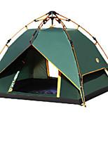 3-4 personnes Tente Tente avec Filet de Protection Tente de douche Double Tente de camping Une pièce Tente automatique Zip étanche