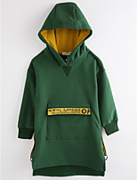Girls' Solid Jacket & Coat,Cotton Long Sleeves Green