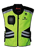 Men Motorcycle Vest Reflective Security Night clothes jecket Protector Gear for Motorsport
