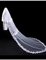 Deux couches Bord en dentelle Mariage Dentelle Couche double Mariée Voiles de Mariée Voiles Blush Voiles cathédrale Avec Dentelle