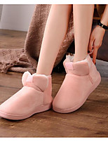 Women's Shoes Polyamide fabric Cotton Fall Winter Snow Boots Slippers & Flip-Flops Mid-Calf Boots For Casual Blushing Pink Coffee Fuchsia