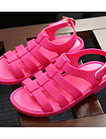 cheap -Girls' Shoes PVC Leather Winter Fall Comfort Sandals Walking Shoes Buckle for Casual Black Fuchsia Blue Almond