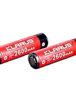 KLARUS 18650 2600mAh batterie Portable Professionnel Transport Facile Haute qualité Légère pour 18650 Lithium-ion